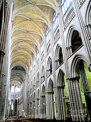 Photograph - Rouen Cathedral Interior 4 by Randall Weidner
