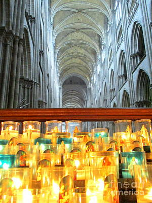 Photograph - Rouen Cathedral Interior 5 by Randall Weidner