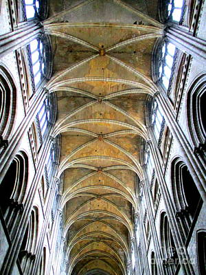 Photograph - Rouen Cathedral Interior 6 by Randall Weidner