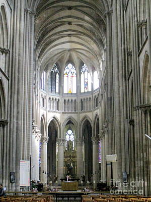 Photograph - Rouen Cathedral Interior 7 by Randall Weidner