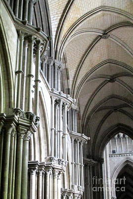 Photograph - Rouen Cathedral Interior 8 by Randall Weidner