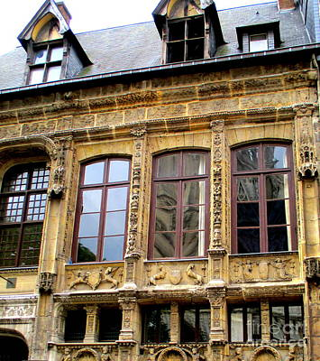 Photograph - Rouen Details 3 by Randall Weidner