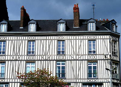 Photograph - Rouen Half Timbered 23 by Randall Weidner