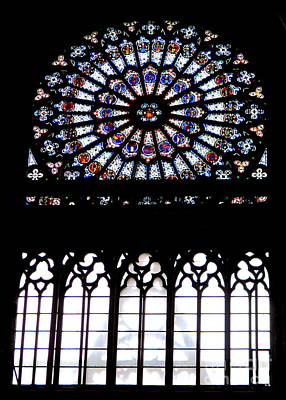 Photograph - Rouen Stained Glass 2 by Randall Weidner
