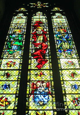 Photograph - Rouen Stained Glass 3 by Randall Weidner