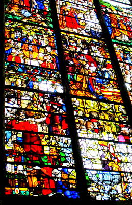 Photograph - Rouen Stained Glass 4 by Randall Weidner