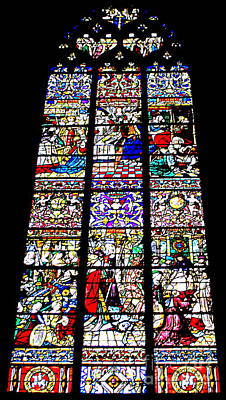 Photograph - Rouen Stained Glass 5 by Randall Weidner