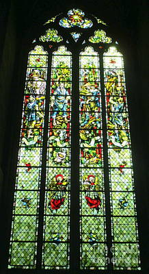 Photograph - Rouen Stained Glass 6 by Randall Weidner
