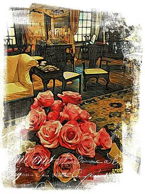 Photograph - Rouge French Roses by Alice Gipson