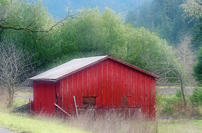 Photograph - Rouge Red Barn by Adria Trail