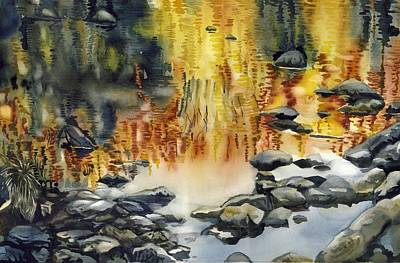 Painting - Rouge River Reflection by Alfred Ng