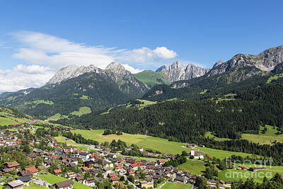 Rougemont Village In Switzerland Art Print