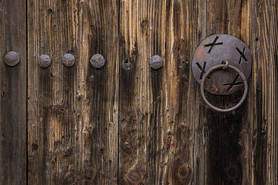 Photograph - Rough And Rusty Vintage Wooden Door by Georgia Mizuleva