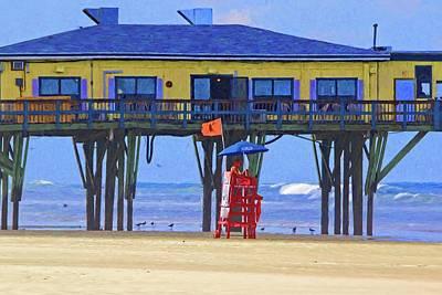 Photograph - Rough Beach Coming by Alice Gipson