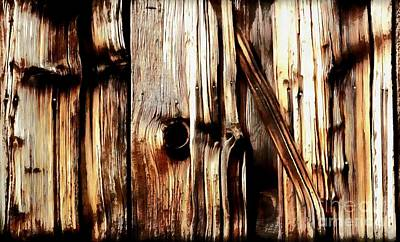Painting - Rough Cut - Knotted - Wood - Grain by Janine Riley