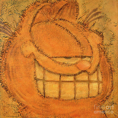Smile Mixed Media - Rough Garfield by The Garfield Collection