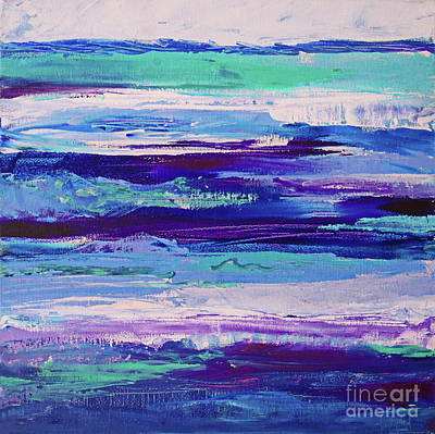Painting - Rough Purple Stripes by Expressionistart studio Priscilla Batzell
