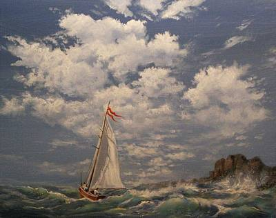 Rough Sailing Art Print by Tom Shropshire