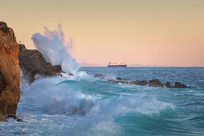 Photograph - Rough Sea 7 by Giovanni Allievi