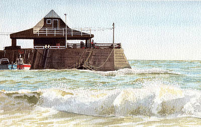 Painting - Rough Sea Broadstairs by Martin Howard