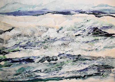 Rough Sea Art Print by Linda King