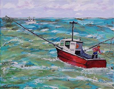 Painting - Rough Sea by Mike Caitham