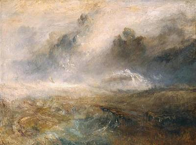 Wreckage Painting - Rough Sea With Wreckage by Joseph Mallord