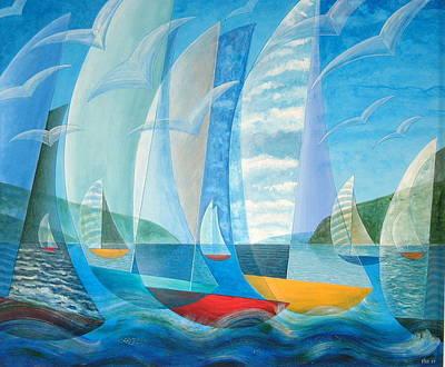 Painting - Rough Seas Calm Seas by Douglas Pike