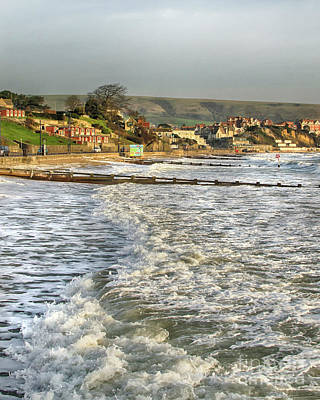 Photograph - Rough Seas In Swanage Bay by Linsey Williams