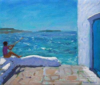 Mykonos Painting - Rough Seas, Mykonos by Andrew Macara