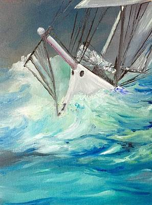 Painting - Rough Seas Won't Defeat Me by Patti Lane