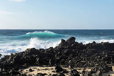 Photograph - Rough Shore - Signature Lava Rocks And Waves In Hawaii  by Georgia Mizuleva