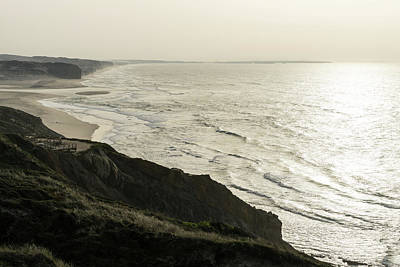 Photograph - Rough Silver Coast Cliffs by Georgia Mizuleva