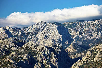 Photograph - Rough Stone Desert Velebit Mountain Peak by Brch Photography