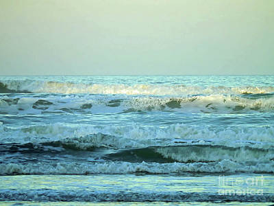 Photograph - Rough Surf At Twilight by D Hackett