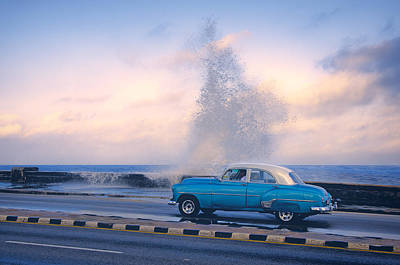 Cuba Photograph - Rough Surf On The Malecon by Claude LeTien