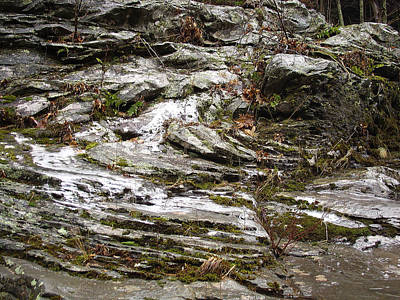 Photograph - Rough Timeworn Rhythm Along The Kaaterskill Creek by Terrance DePietro