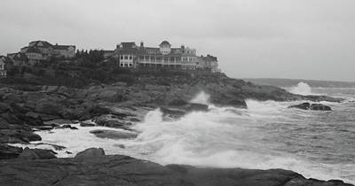 Rough Water At Nubble York Me Art Print by Imagery-at- Work