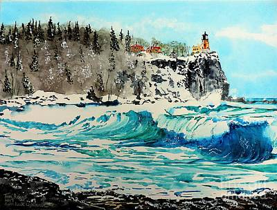 Painting - Rough Water At Split Rock by Tom Riggs