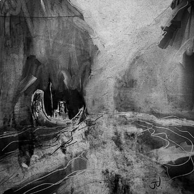 Digital Art - Rough Waters by Jim Vance