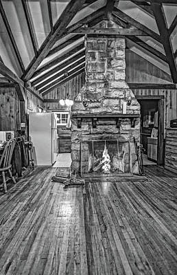 Photograph - Roughing It Wv - Bw by Steve Harrington