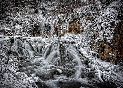 Photograph - Roughlock Falls In Winter by Ray Van Gundy