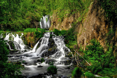 Photograph - Roughlock Falls State Park Nature Area - Spearfish Canyon South Dakota by Frank J Benz