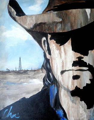Oil Rig Painting - Roughneck by Cheri Stripling