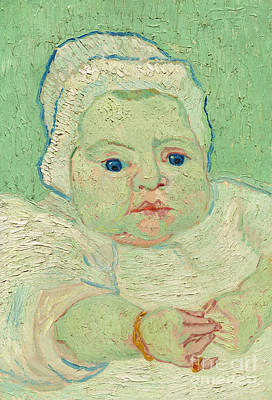 Toddler Portrait Painting - Roulin's Baby, 1888 by Vincent Van Gogh