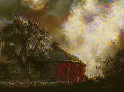 Round About The Barn Art Print by Margaret Wingstedt