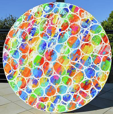 Painting - Round And Round We Go Again by Elizabeth Langreiter