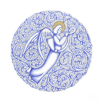 Drawing - Round Angel 2018 by Donna Huntriss