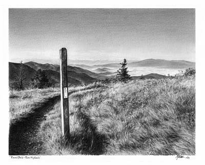 Tennessee Drawing - Round Bald by Mike Wurman