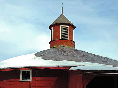 Photograph - Round Barn Cupola by Nancy Griswold